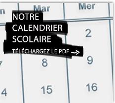 Notre calendrier scolaire